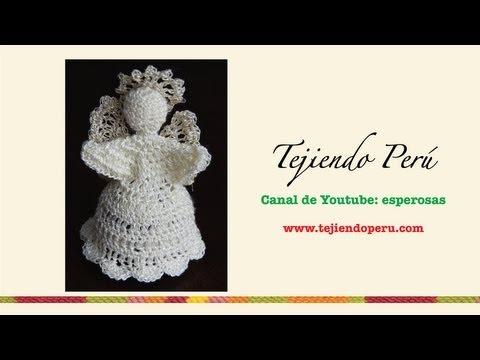 Ángel tejido en crochet