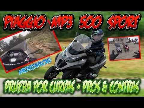 Piaggio MP3 500 lt Sport - Prueba por Carretera de Curvas + Pros & Contras