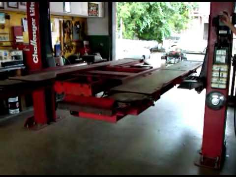 Hunter Challenger 27000 2 Post Lift 9000 Pound Youtube
