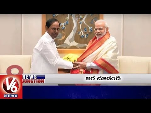 9 PM Headlines | CM KCR Meets PM Modi | President In Hyderabad | Karakkaya Scam | V6 News
