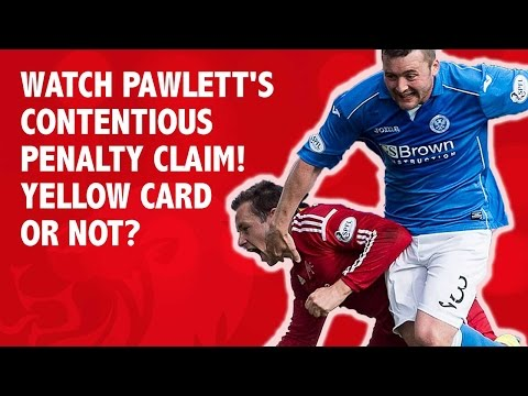 Watch Pawlett's contentious penalty claim! Yellow card or not?
