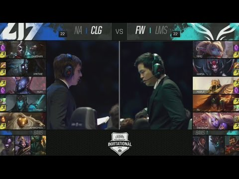 CLG (Aphromoo Bard) VS FW (SwordArt Soraka) Game 1 Highlights - 2016 MSI Semifinals