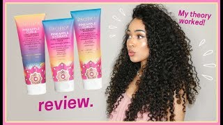 PACIFICA PINEAPPLE CURLS REVIEW, VEGAN + CRUELTY FREE CURLY HAIR ROUTINE by Lana Summer
