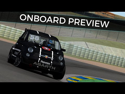 rFactor Abarth Cup: Spain - Circuito del Jarama onboard preview