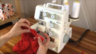 Sewing on a t-shirt neckband with Brindille & Twig