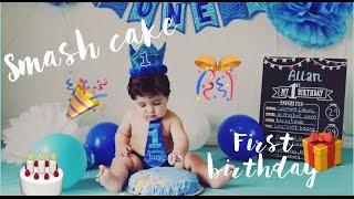 *DIY* IDEA 💡  BABY SMASH CAKE - FIRST BIRTHDAY CAKE - FOTO ESTUDIO