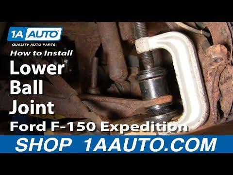 PART 2 How To Install Replace Lower Ball Joint 97-03 Ford F-150 Expedition 1AAuto.com