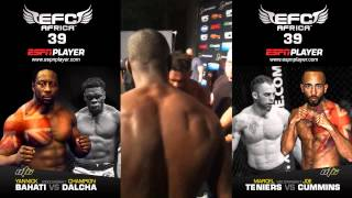Download UTC's Yannick Bahati and Champion Dalcha exchange words at the EFC 39 Weigh-In 3Gp Mp4