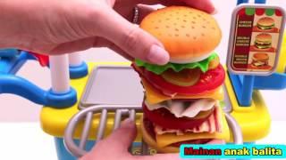 Mainan jualan dan memasak burger