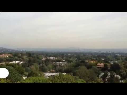 Enjoying the beautiful views of LA from Bel Air today.