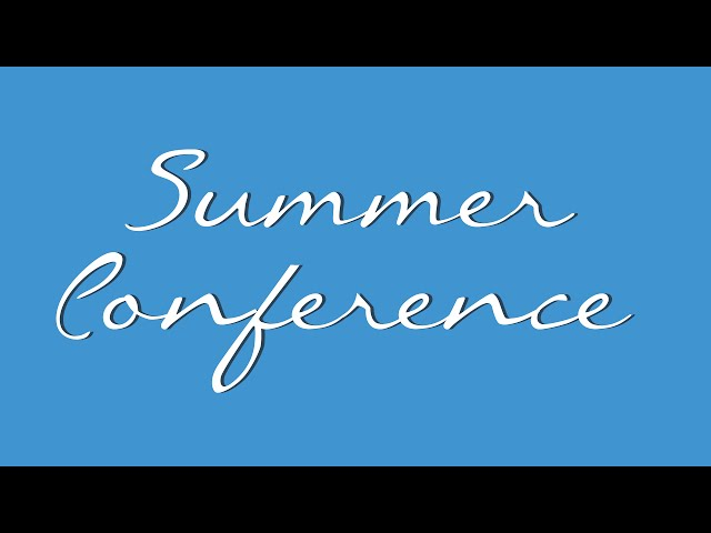 21 July 2014 7:30pm: Summer Conference 2014 - Vernon Higham