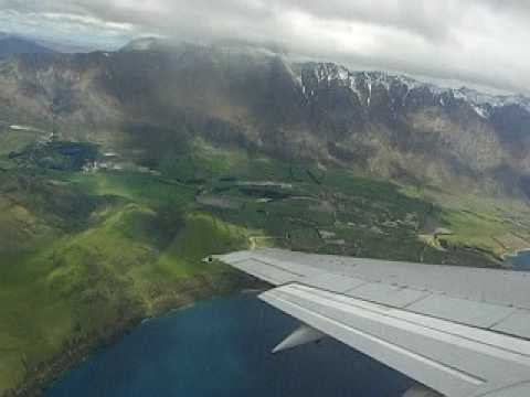Take off from Queenstown Airport, Queenstown, New Zealand