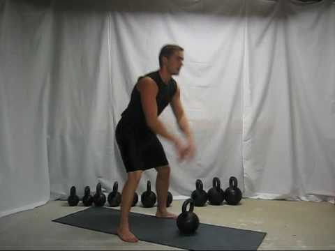 Kettlebell swing instruction Image 1