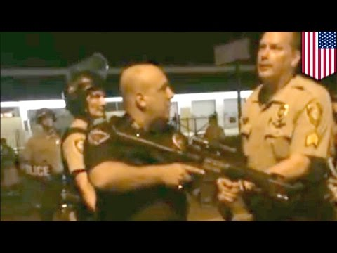 Michael Brown shooting: Officer Go F Yourself suspended for pointing rifle at Ferguson protesters