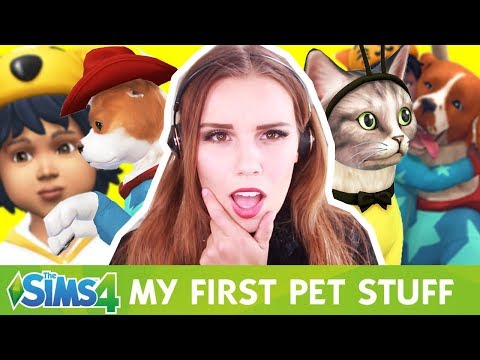 CREATE A PET & SIM REVIEW - The Sims 4 My First Pet Stuff