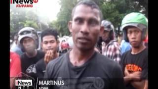 iNews NTT - Tabrakan Bus Rute Maumere Larantuka Satu Penumpang Sekarat