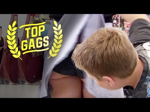 Kid Lifts Up Woman's Skirt! - Just For Laughs Gags