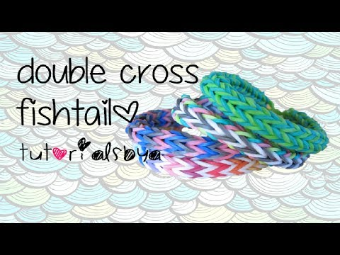 Double Cross Fishtail (Angel Halo) Rainbow Loom Bracelet Tutorial