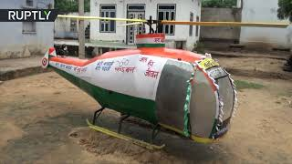 Indian student makes 'helicopter' from waste