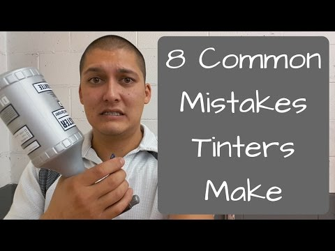 Window Tinting: 8 Common Mistakes Tinters Make