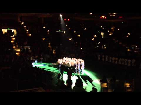 Perry Hall Christian School singing the National Anthem at the Baltimore Blast Game - 06/27/2014