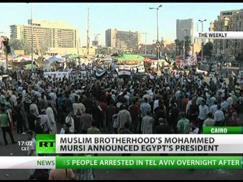 Muslim Brotherhood's Mohammed Morsi declared president of Egypt