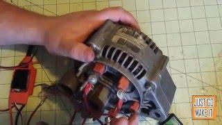 Alternator to motor conversion howto