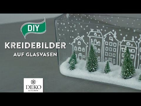 diy weihnachtsdeko mit trendigen kreidebildern auf glasvasen how to deko kitchen. Black Bedroom Furniture Sets. Home Design Ideas