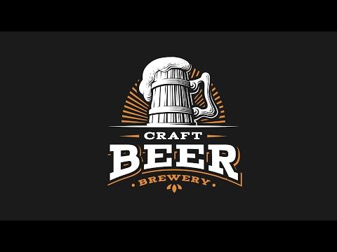 Процесс отрисовки логотипа. Craft beer logo. Drawing process