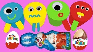 Learn Colors For Kids 4 #PlayDohIceCream #ColorsForKids Surprise Eggs Kinder Surprise Egg In English