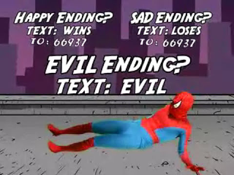 Text-Your-Own Adventures of Spider-Man