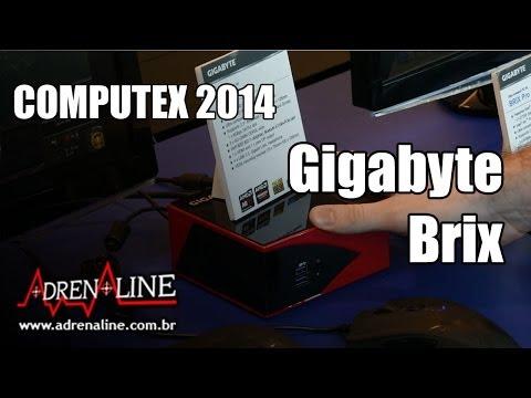 Os vários formatos do Brix, PC ultracompacto da Gigabyte, na Computex 2014