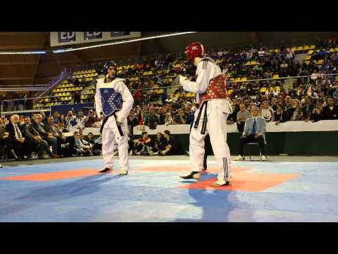 Dutch Open 2012 Taekwondo Final Aaron Cook VS Sebastian Crismanich -80KG  ( Wicked Head Shots)