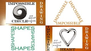 How to Draw 3D Illusions on paper | Step by Step Easy: IMPOSSIBLE Circle and IMPOSSIBLE Heart