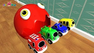 Learning Colors PACMAN city Vehicle tower slide  Play for kids car toys