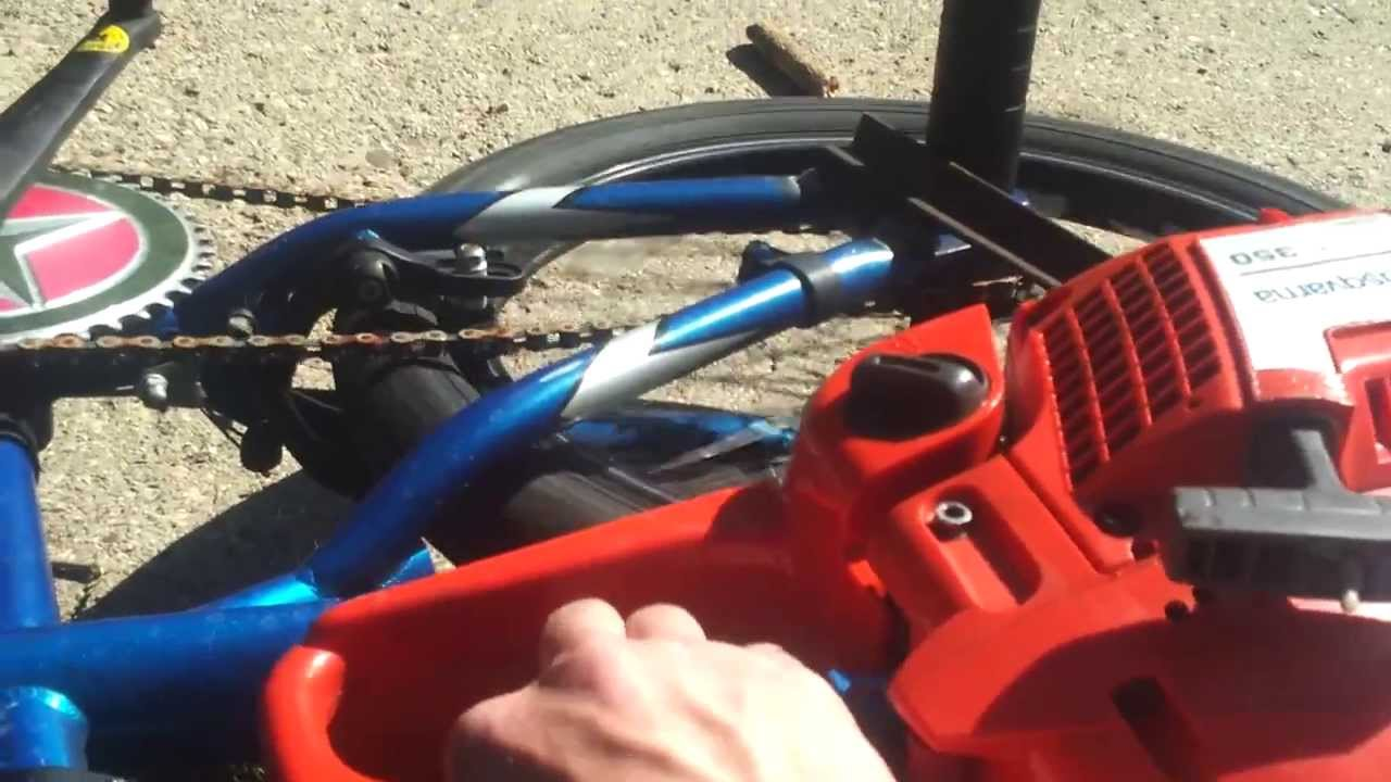Chainsaw Powered Bycycle