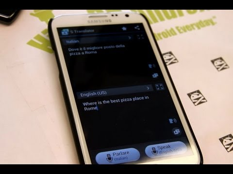 Galaxy S4 S Translator Demo and How to Install on Rooted Galaxy S3/Note 2!