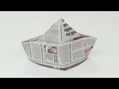 How to make paper hats youtube for How to make something with newspaper