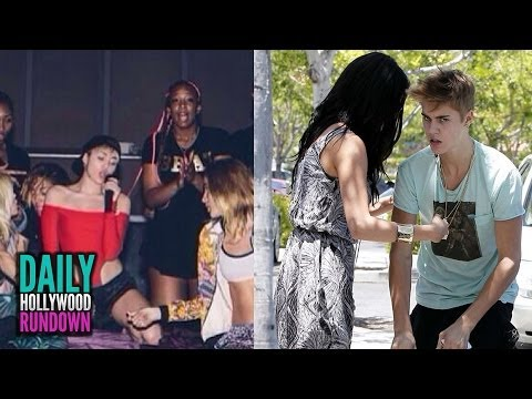 Justin Bieber Nude Photos To Selena & Text Fight? Miley Cyrus Teases Bangerz Tour! video