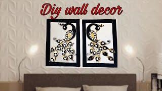 How to make peacock wall hanging craft//Diy wall decor// DIY home decor//fashion pixies
