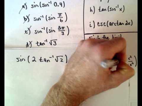 Inverse Trigonometric Functions , Part 3