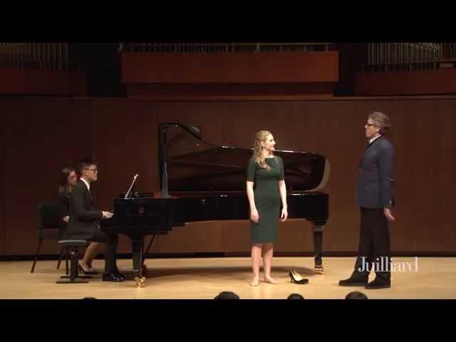 Thomas Hampson Master Class, January 28, 2015: Samantha Hankey & Raymond Wong