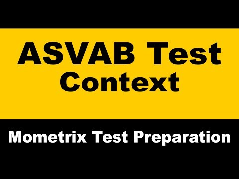 ASVAB Word Knowledge Tips - Context