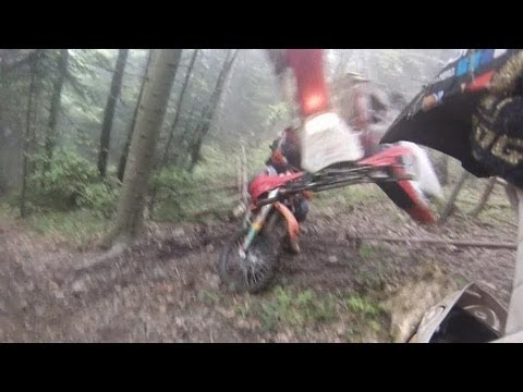 Enduro FAIL! CRF 250X attack on KTM EXC 530 :P