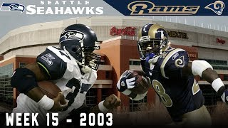A Key Play From an Unexpected Figure! (Seahawks vs. Rams 2003, Week 15)