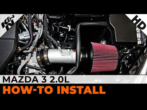 2011. 2012 & 2013 Mazda 3 2.0L K&N Air Intake Installation Video