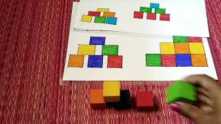 Easy Diy activities with wooden rainbow/ coloured cubes