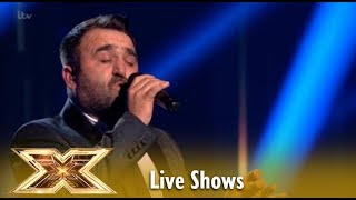 Danny Tetley Sings Mariah Carey's Hero And Judges SHOOK! Live Shows Week 1   The X Factor UK 2018