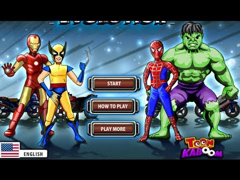 Spiderman Hulk Iron Man Heroes Evolution Spiderman Games Best Kid Games