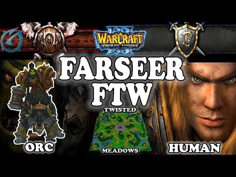 Grubby | Warcraft 3 TFT | 1.29 | ORC v HU on Twisted Meadows - Farseer FTW